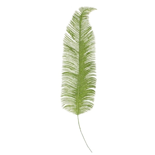 """24"""" Artificial Metallic Green Palm Frond Floral Spray. Opens flyout."""