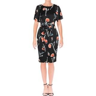 Lauren Ralph Lauren Womens Wear to Work Dress Cold Shoulder Knee-Length