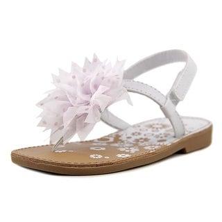 Natural Steps Floret Toddler Open-Toe Leather White Slingback Sandal
