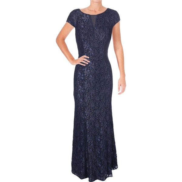 a3757b8064 Shop Alex Evenings Womens Evening Dress Glitter Lace - Free Shipping ...