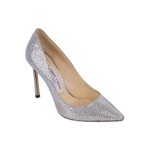 ca14642bcbb0 Shop Jimmy Choo Womens Romy 100 Glitter Fabric Pointy Toe Pumps ...