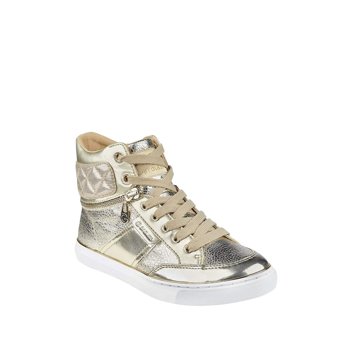 G by GUESS Womens Ombae Quilted Leather Fashion Sneakers