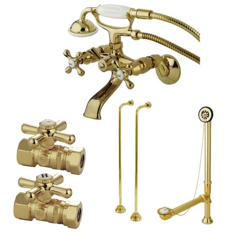 Vintage Wall Mount Clawfoot Faucet Package
