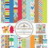 """Puppy Love - Doodlebug Double-Sided Paper Pack 12""""X12"""" 11/Pkg"""