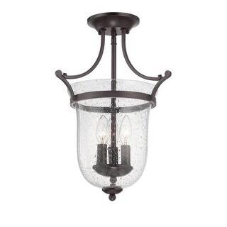 Savoy House 6-7133-3 Trudy 3 Light Semi Flush Mount Ceiling Fixture