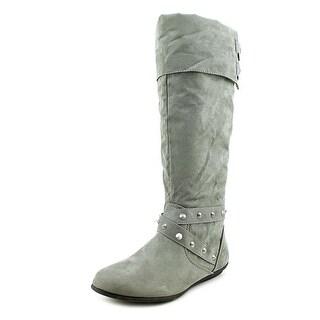 Rampage Batari Women Round Toe Synthetic Gray Knee High Boot