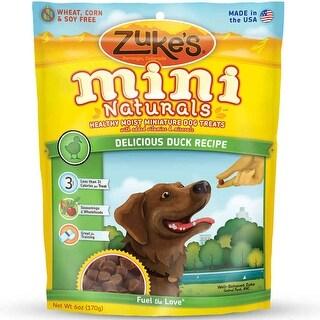 Zuke's Mini Naturals Moist Miniature Treat for Dogs Delicious Duck 6 oz.