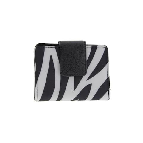 Kenneth Cole Reaction Womens Bifold Wallet Zebra Print Photo