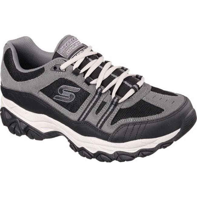 8cfa383272429 Shop Skechers Men's After Burn Memory Fit Strike Off Sneaker Charcoal/Black  - Free Shipping Today - Overstock - 10211258