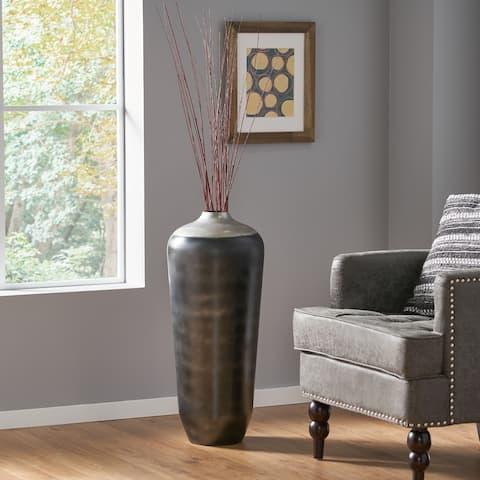 Darien Indoor Iron Handcrafted Floor Vase by Christopher Knight Home
