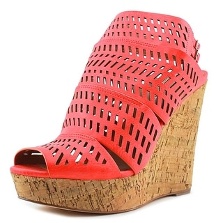 Charles By Charles David Apt Laser Cut Open Toe Synthetic Wedge Sandal