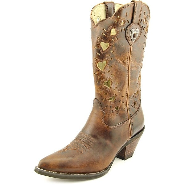 Durango DCRD179 Women  Pointed Toe Leather Brown Western Boot