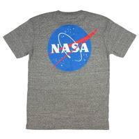NASA Mens Front And Back Meatball Logo T-Shirt