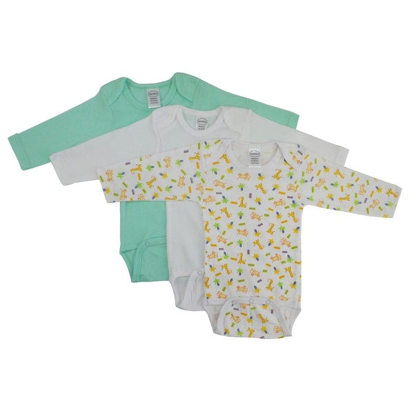 Bambini Boys Longsleeve Printed Bodysuit Variety Pack - Size - Small - Boy