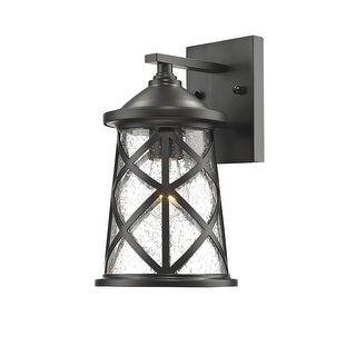 """Millennium Lighting 2500 1-Light 10"""" High Outdoor Wall Sconce with Glass Shade - N/A"""