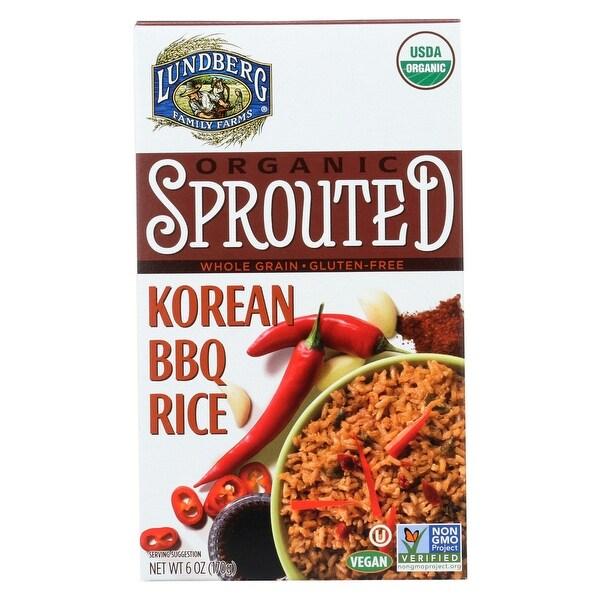 Lundberg Family Farms Organic Sprouted Rice - Korean BBQ - Case of 6 - 6 oz.