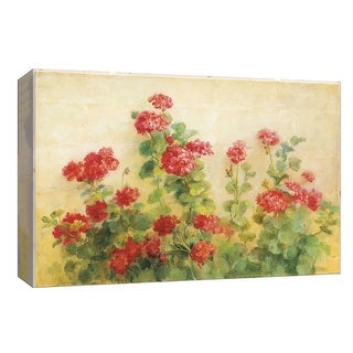 "PTM Images 9-153891  PTM Canvas Collection 8"" x 10"" - ""Red Geraniums on White"" Giclee Flowers Art Print on Canvas"