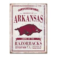 University of Arkansas Vintage Tin Sign
