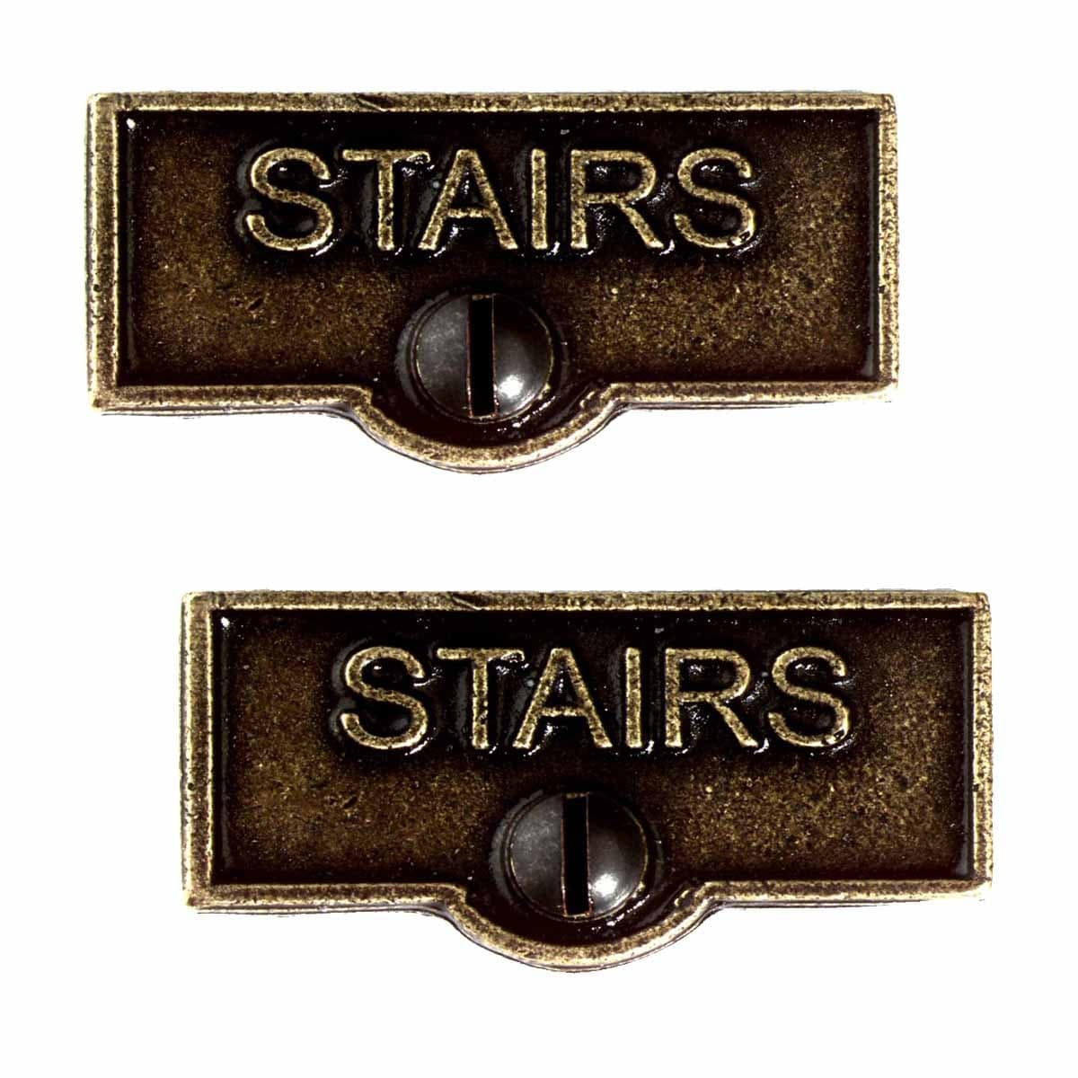 2 Switch Plate Tags Stairs Name Signs Labels Cast Brass Overstock 14047464