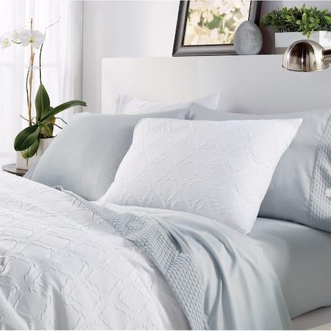 Microsculpt Solid Ogee 3-piece Comforter Set