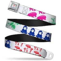The Hobbit The Battle Of The Five Armies Mushrooms Full Color White Multi Seatbelt Belt