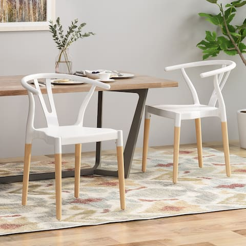 Mountfair Modern Wood Leg Dining Chairs (Set of 2) by Christopher Knight Home