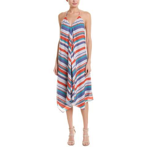 Ramy Brook Asymmetric Silk A-Line Dress