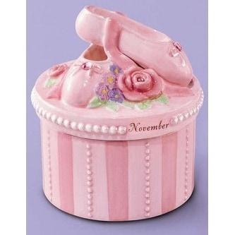 A Time to Dance Classics November Ballerina Trinket Box by Russ Berrie