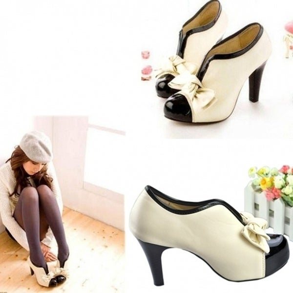 d3de5adcda Kilimall Women Fashion Bow Pump Platform Women High Heel Shoes Winter Boots