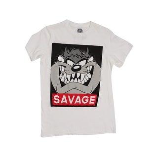 Fifth Sun Men's Savage Taz T-Shirt (S, White) - WHITE - s