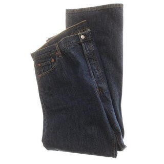 Levi Strauss Mens 501 Bootcut Jeans Stone Wash Classic-Rise