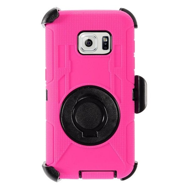 Insten Dual Layer Hybrid Stand Rubberized Hard PC/ Silicone Holster Case Cover for Samsung Galaxy S7
