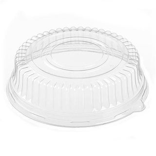 51230 CPC 3 in. Ebony Dome Lid for 12 in. Tray, Clear - Case of