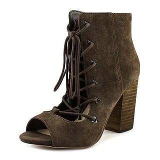 Fergie Riviera   Open-Toe Suede  Ankle Boot