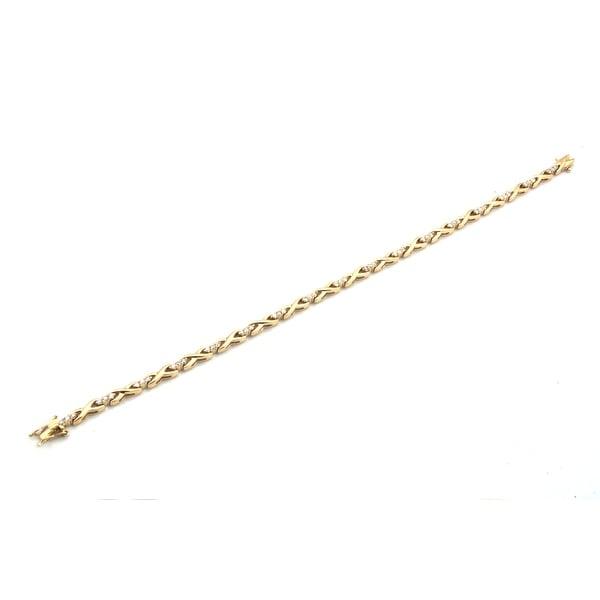 Brand New 0.93 Carat Round Brilliant Cut Natural Diamond Stylist Bracelet