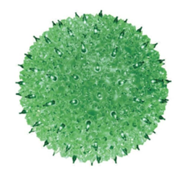 """Green Lighted Hanging Starlight Sphere Outdoor Christmas Decoration 10"""" (250mm)"""