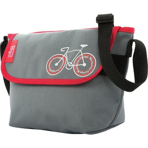 Manhattan Portage City Bike Mini Ny Messenger Bag Grey Red Us One Size