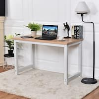 Costway Wood Computer Desk PC Laptop Table Study Workstation Home Office Furniture