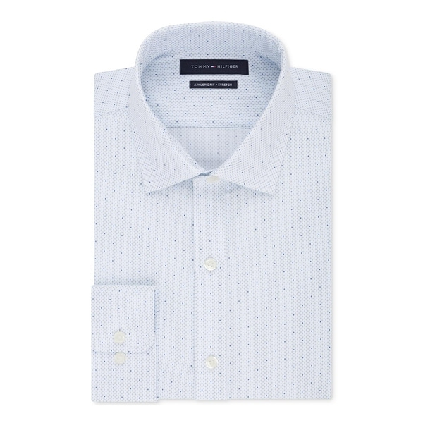 d1190d5bf Shop Tommy Hilfiger Mens Dress Shirt Athletic Fit Non-Iron - Free Shipping  On Orders Over $45 - Overstock - 24254696