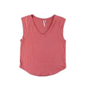 C & C California Womens Linen Sheer Pullover Top - XS