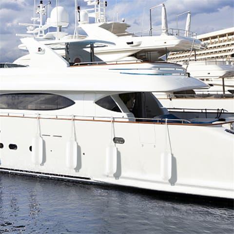 """[LX] 8.5""""(D) x 27""""(L) Outdoor Yacht Crash Float White"""