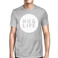 Hug Life Men's Heather Grey T-shirt Unique Design Ultra Soft Feel