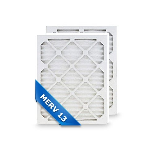 High Quality Pleated Furnace Air Filter 14x24x1 Merv 13 (2-Pack)
