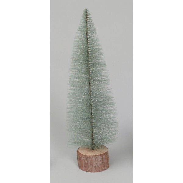 """18"""" Blue Spruce Village Artificial Christmas Tree with Wooden Base"""