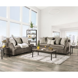 Link to Furniture of America Blik Transitional Chenille 2-piece Living Room Set Similar Items in Living Room Furniture Sets