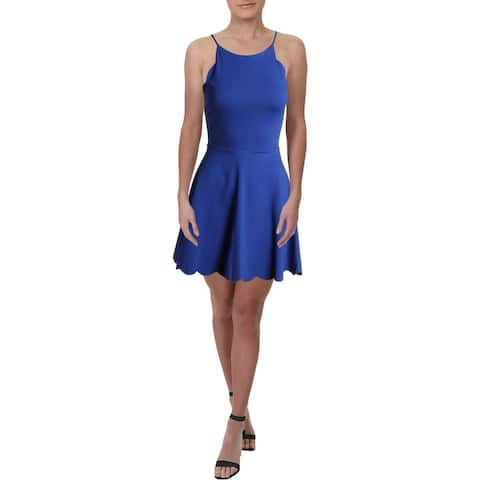 Necessary Objects Womens Cocktail Dress Straight Neck Fit and Flare
