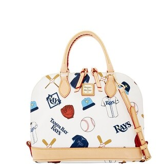 Dooney & Bourke MLB Rays Zip Zip Satchel (Introduced by Dooney & Bourke at $248 in Jan 2015) - White