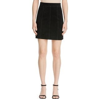 Bardot Womens A-Line Skirt Above Knee Suede - 4