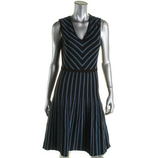 Anne Klein Womens Casual Dress Knit Striped