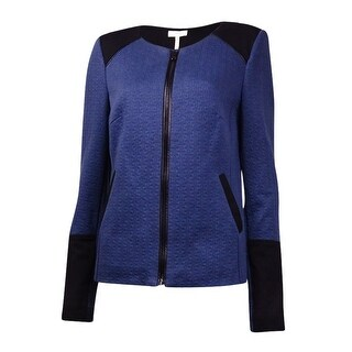 Laundry by Shelli Segal Women's Faux Pocket Colorblock Blazer - Mood Indigo (2 options available)